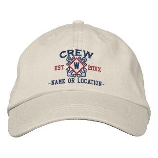 Personalisiertes SeeCrewmonogramm u. -mehr Bestickte Kappe
