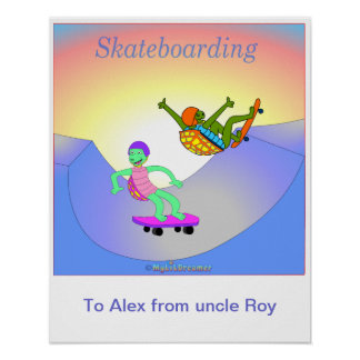 Personalisiertes Skateboardplakat Posterdruck