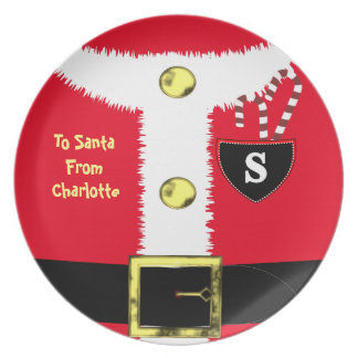 Personalisiertes spezielles Weihnachten Sankt Melaminteller