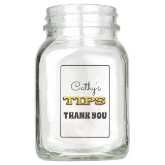 Personalisiertes Spitze-Glas Einmachglas