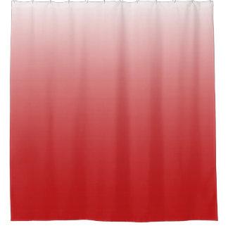 Personalisiertes Steigung ombre Rot Duschvorhang