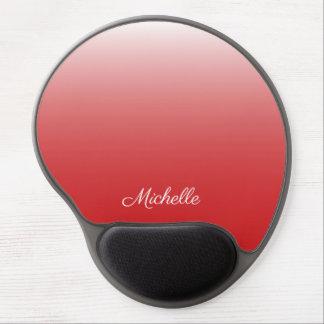 Personalisiertes Steigung ombre Rot Gel Mousepad