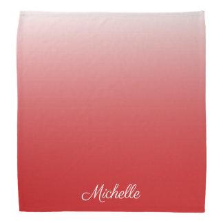 Personalisiertes Steigung ombre Rot Kopftuch