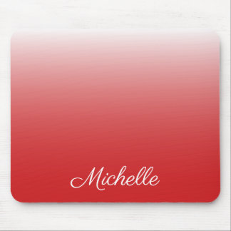 Personalisiertes Steigung ombre Rot Mousepad