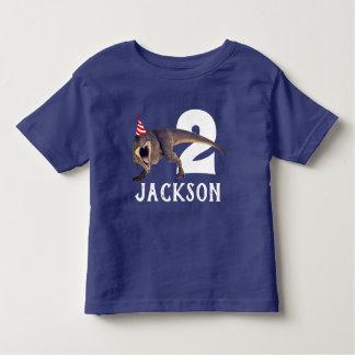 Personalisiertes T-Rex Geburtstags-Party Kleinkind T-shirt