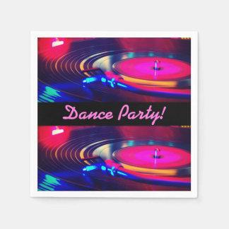 Personalisiertes Tanz-Party-Retro Servietten