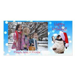 Personalisiertes Tanzenpenguin-Weihnachten Karte