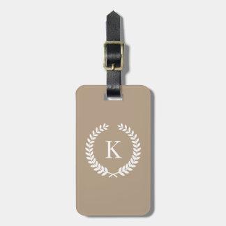 Personalisiertes Taupe-Monogramm Koffer Anhänger