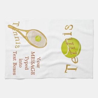 Personalisiertes Tennis-Tuch, Küchentuch