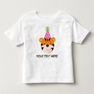 Personalisiertes Tiger-Geburtstags-T-Shirt für Kleinkinder T-shirt