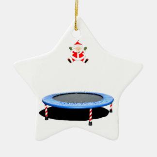 personalisiertes Trampoline Weihnachtsgeschenk Keramik Ornament