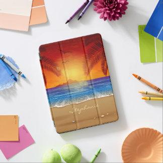 Personalisiertes tropisches iPad air hülle