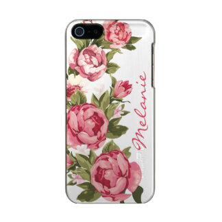 Personalisiertes Vintages erröten rosa Rosen Incipio Feather® Shine iPhone 5 Hülle