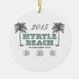 Personalisiertes Vintages Myrtle Beach South Keramik Ornament