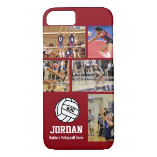 Personalisiertes Volleyball-Foto-Uni-Namen-Team # iPhone 8/7 Hülle