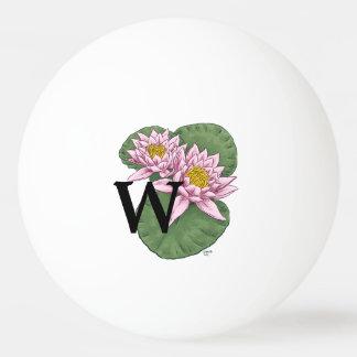 Personalisiertes Wasser-Lilien-Monogramm Tischtennis Ball
