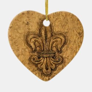 Personalisiertes Weihnachten der Lilien-| Keramik Ornament