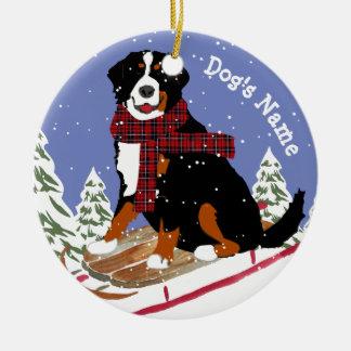 Personalisiertes WeihnachtenBernese Mt Keramik Ornament