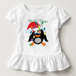 Personalisiertes Weihnachtskleinkind-Rüsche-Kleid Kleinkind T-shirt