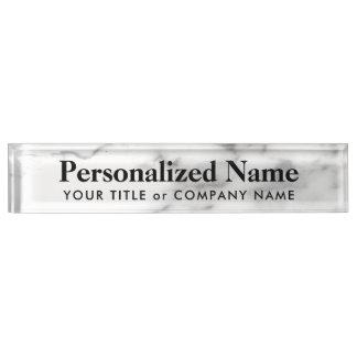 Personalisiertes weißes schreibtischplakette