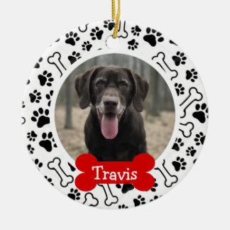Personalisiertes Welpen-Hundehaustier-Foto Keramik Ornament