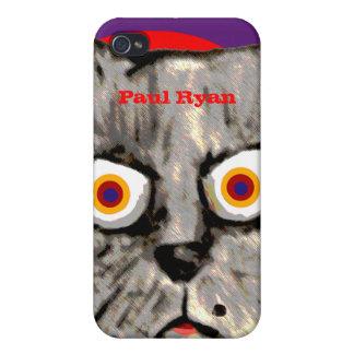 personalisiertes wütendes Katzengesicht iPhone 4 Hülle