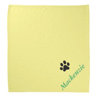 Personalisiertes Yelping für gelben schwarzen Kopftuch