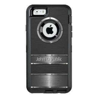 Personalisiertes zeitgenössisches Schwarzes und OtterBox iPhone 6/6s Hülle