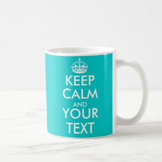 Personalizable behalten ruhige Tasse mit