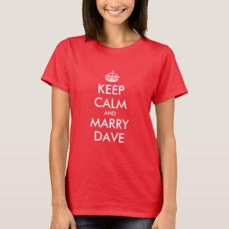 Personalizable behalten ruhiges Hochzeitst-shirt T-Shirt