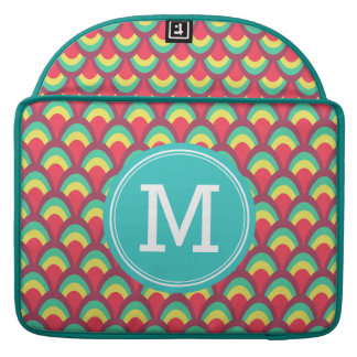 Personalizable buntes geometrisches sleeve für MacBook pro