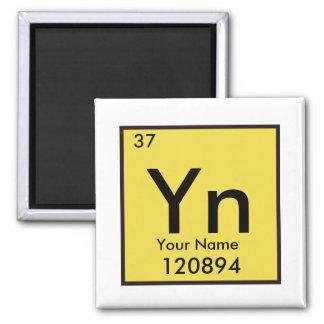 Personalizable chemisches Element Quadratischer Magnet
