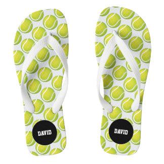 Personalizable cooles Tennis-Muster-Sport-Geschenk Badesandalen
