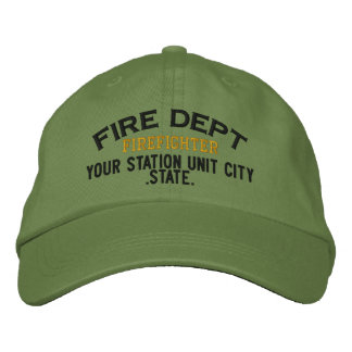 Personalizable Feuerwehrmann-Hut Bestickte Baseballcaps