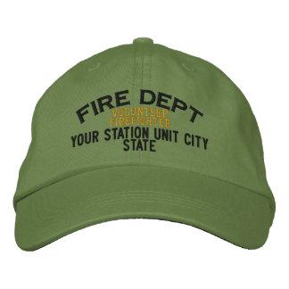 Personalizable freiwilliger Feuerwehrmann-Hut Baseballcap