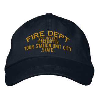 Personalizable freiwilliger Feuerwehrmann-Hut Bestickte Baseballkappe