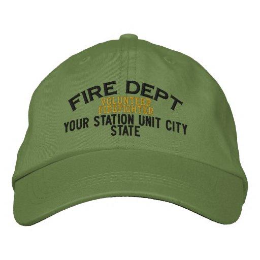 Personalizable freiwilliger Feuerwehrmann-Hut Bestickte Baseballmütze