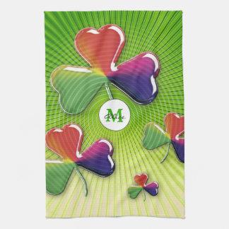 Personalizable glückliche Kleeblätter Handtuch