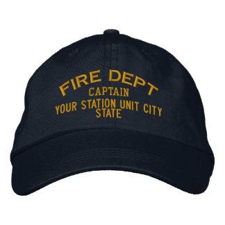 Personalizable Kapitän Firefighter Hat Bestickte Baseballkappen