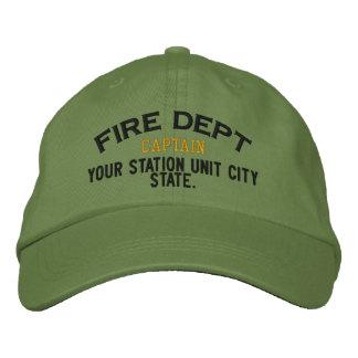 Personalizable Kapitän Firefighter Hat Bestickte Mütze