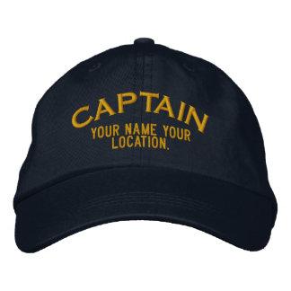 Personalizable Kapitän Hat Bestickte Baseballkappen
