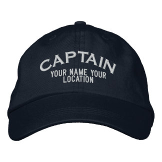 Personalizable Kapitän Hat Bestickte Kappen