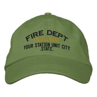 Personalizable Leutnant Firefighter Hat Bestickte Mütze