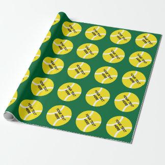 Personalizable Packpapier mit Tennisbällen