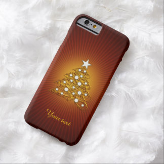 Personalizable reizender Weihnachtsbaum Barely There iPhone 6 Hülle