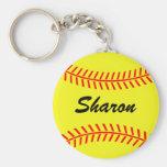 Personalizable Softball keychains Schlüsselanhänger