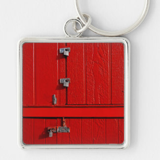 Personalizable Spaß-cooles einzigartiges Silberfarbener Quadratischer Schlüsselanhänger