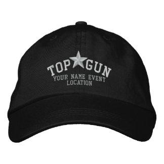 Personalizable Top Gun Stern-Stickerei Besticktes Baseballcap