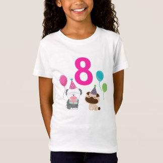 Personalizable Welpen-Geburtstags-T - Shirt