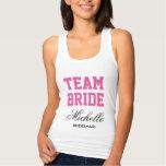 Personalized bachelorette tank tops for team bride
